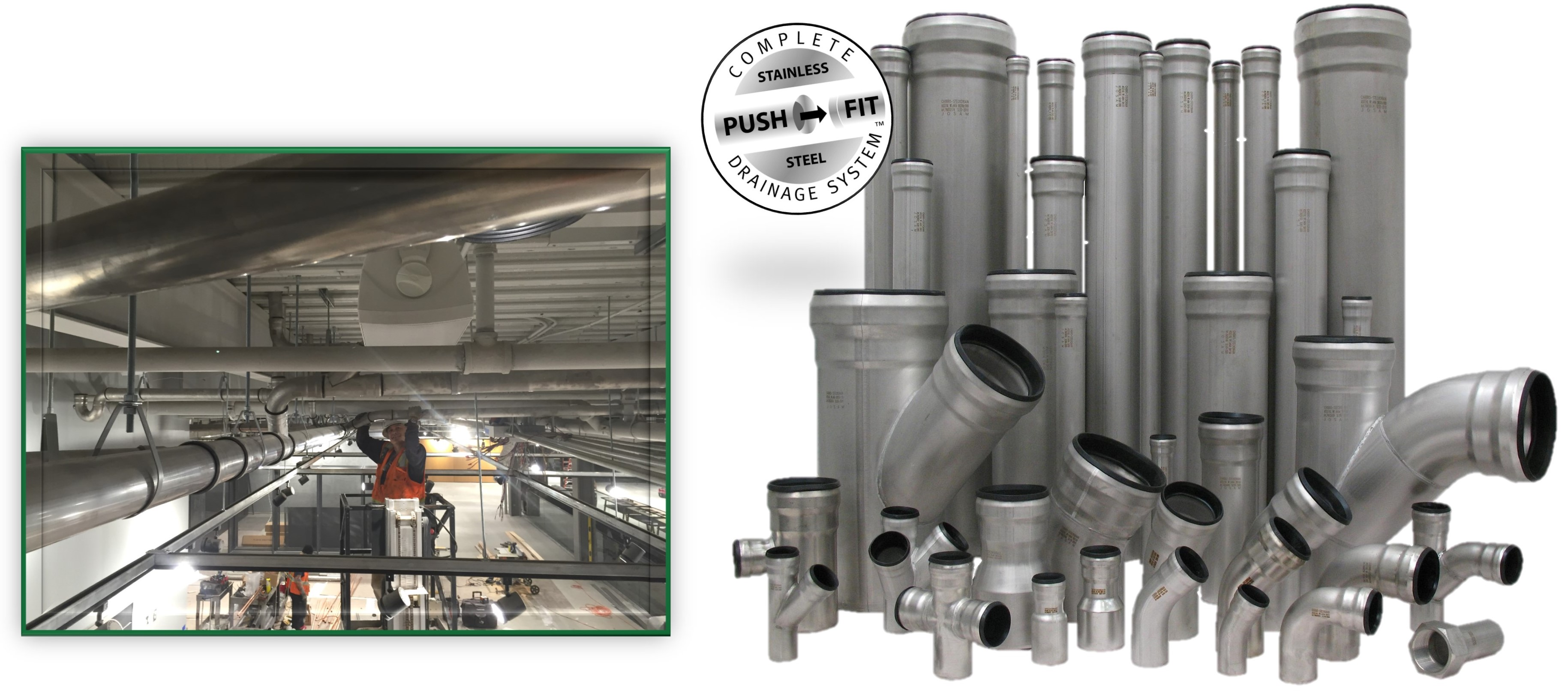 Stainless Steel Push Fit Pipe System Josam
