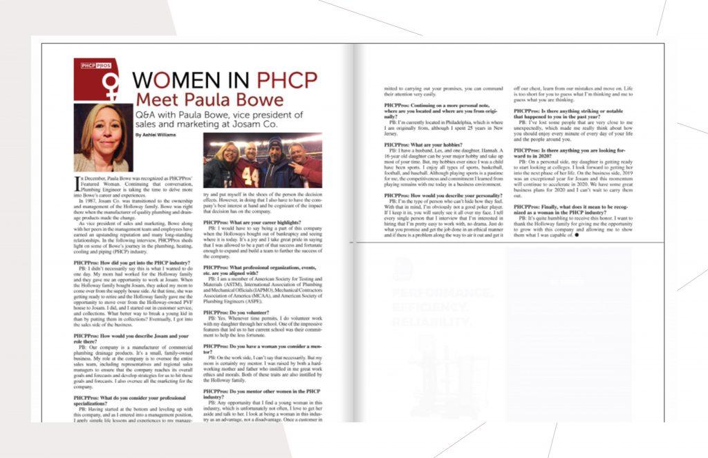 Josam Company - Paula Bowe - WOMEN IN PHCP