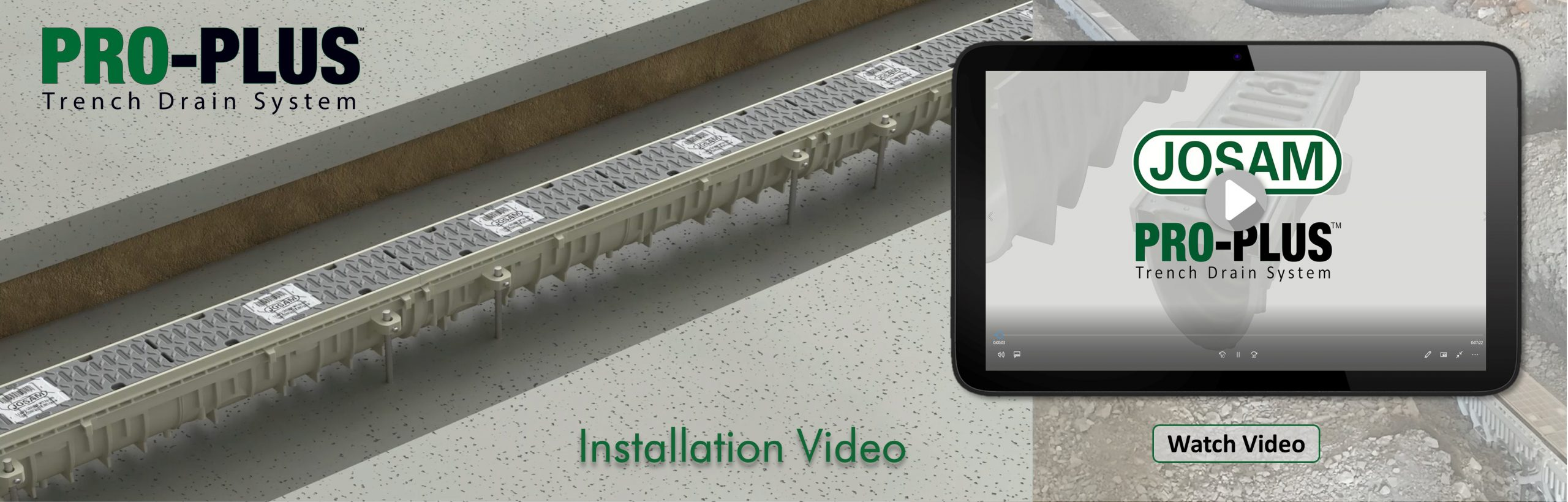PRO-PLUS Trench Drain System Installation Video