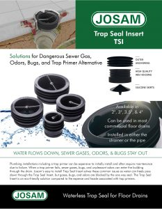 Trap Seal Insert Sell Sheet