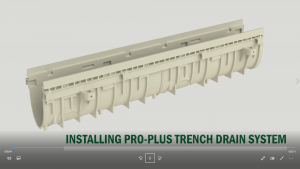PRO-PLUS Trench Drain Installation Video